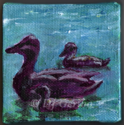 mother-with-ducklings-paddling-painting-by-artist-dj-geribo.jpg