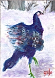 turkey dancing painting by dj geribo