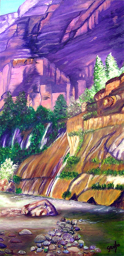 Canyon Colors - Original Oil Painting by Artist DJ Geribo
