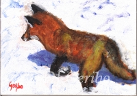 Daily Paintings - Animals by artist DJ Geribo - Red Fox Hunting