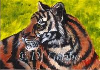 Daily Paintings - Animals by artist DJ Geribo - Tiger Tiger
