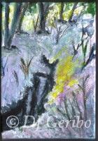 Frozen Winter Stream - Painting by artist DJ Geribo