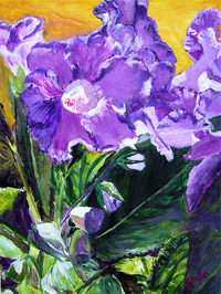 Gushing Gladiolus - Painting by artist DJ Geribo
